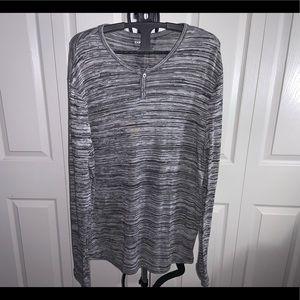 Express: Grey Loose Long Sleeve Top (L)